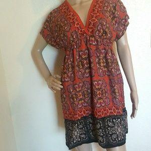 Xhilaration Floral Boho Mini Dress